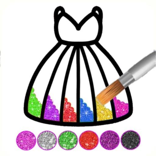 Glitter Dress Coloring Game-SocialPeta