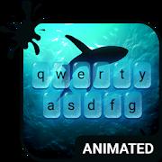 Deep Blue Animated Keyboard-SocialPeta