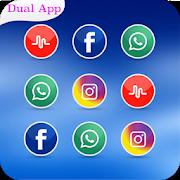 Dual Space - Dual App - Clone App Messenger-SocialPeta