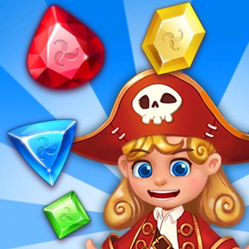 宝石海洋:匹配3益智冒险-SocialPeta