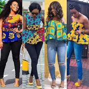 Jeans  Ankara Blouse Styles-SocialPeta