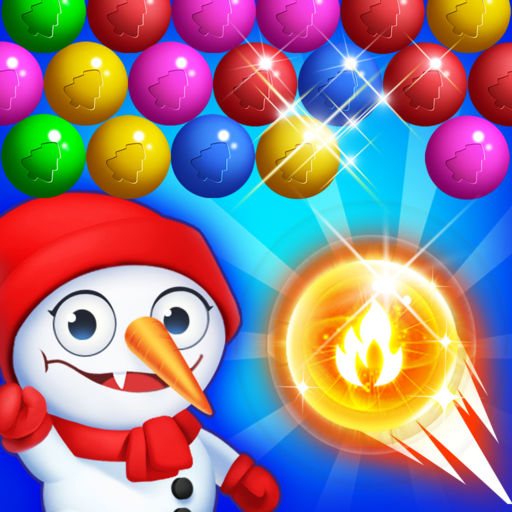 Bubble Shooter - Christmas Pop-SocialPeta