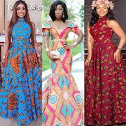 Ankara Long Gown Design  Fashion Styles-SocialPeta