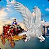 Flying Horse Taxi City Transport-SocialPeta