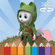 Add The Color: 3D Coloring Book-SocialPeta