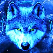 Ice Wallpaper and Keyboard - Lone Wolf-SocialPeta