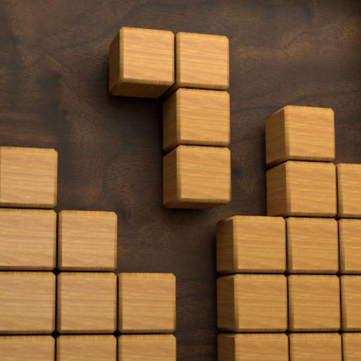 Wood Cube Puzzle-SocialPeta
