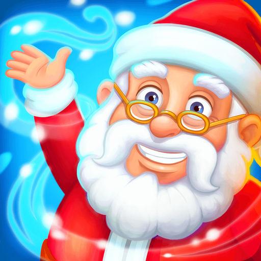 Neujahrsfarm Weihnachtsmanns-SocialPeta
