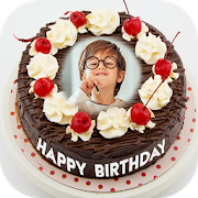 Name Photo On Birthday Cake - Birthday Photo Frame-SocialPeta