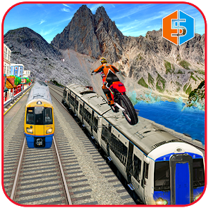 Crazy Train Mania: Real Bike Stunts Master 2018-SocialPeta
