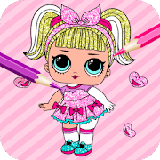 Cute Dolls Gliter Coloring Pages-SocialPeta