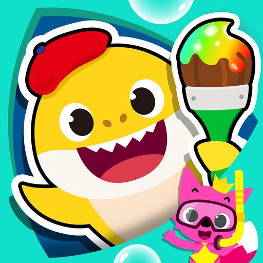 碰碰狐!鲨鱼宝宝填色游戏-SocialPeta